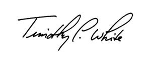 Timothy P. White signature